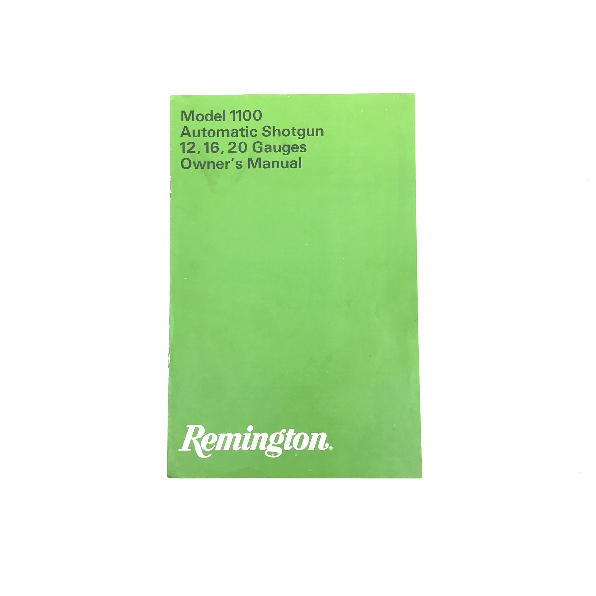 Remington Mod 1100 Auto Shotgun 12,16, 20ga Owner's Manual,Firearm Manuals- Canada Brass