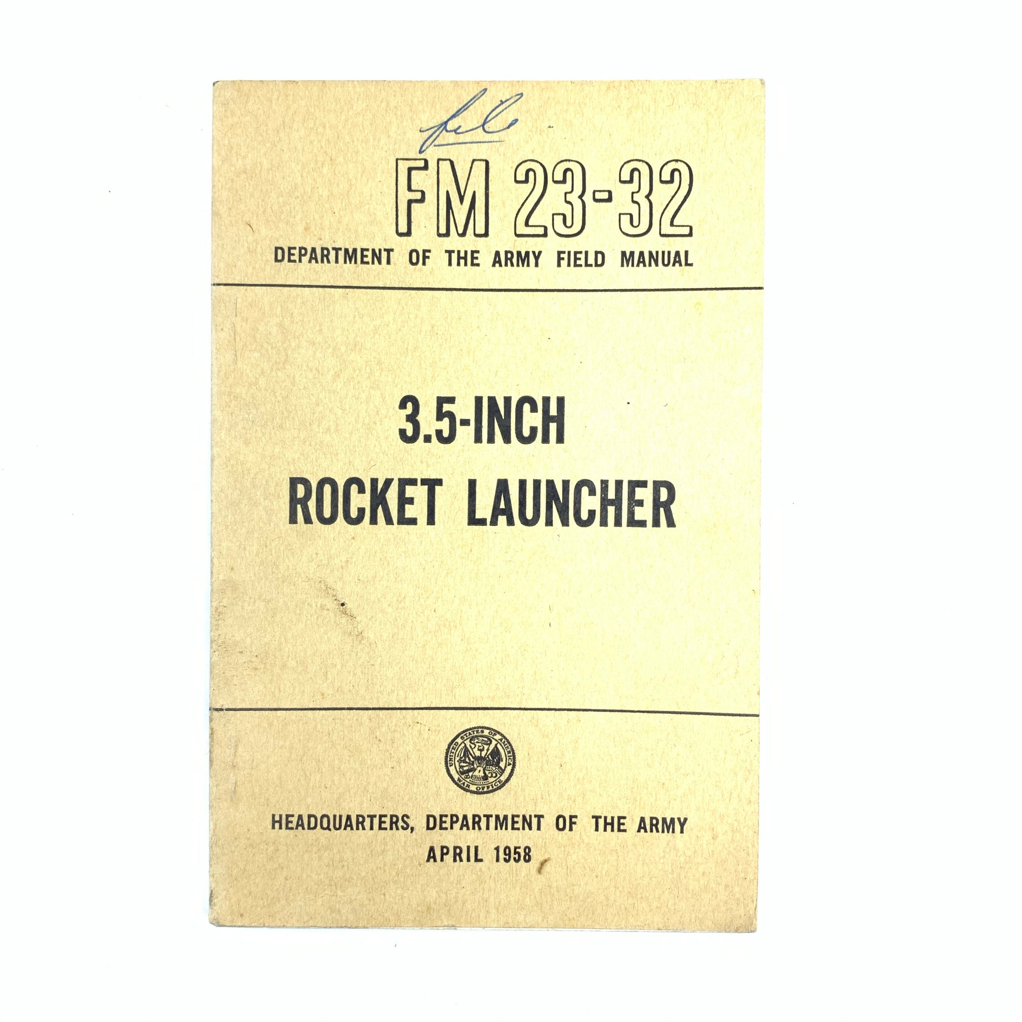 FM 23-32 USA War Office 1958 3.5 Inch rocket launcher Small SB Book 120 pgs
