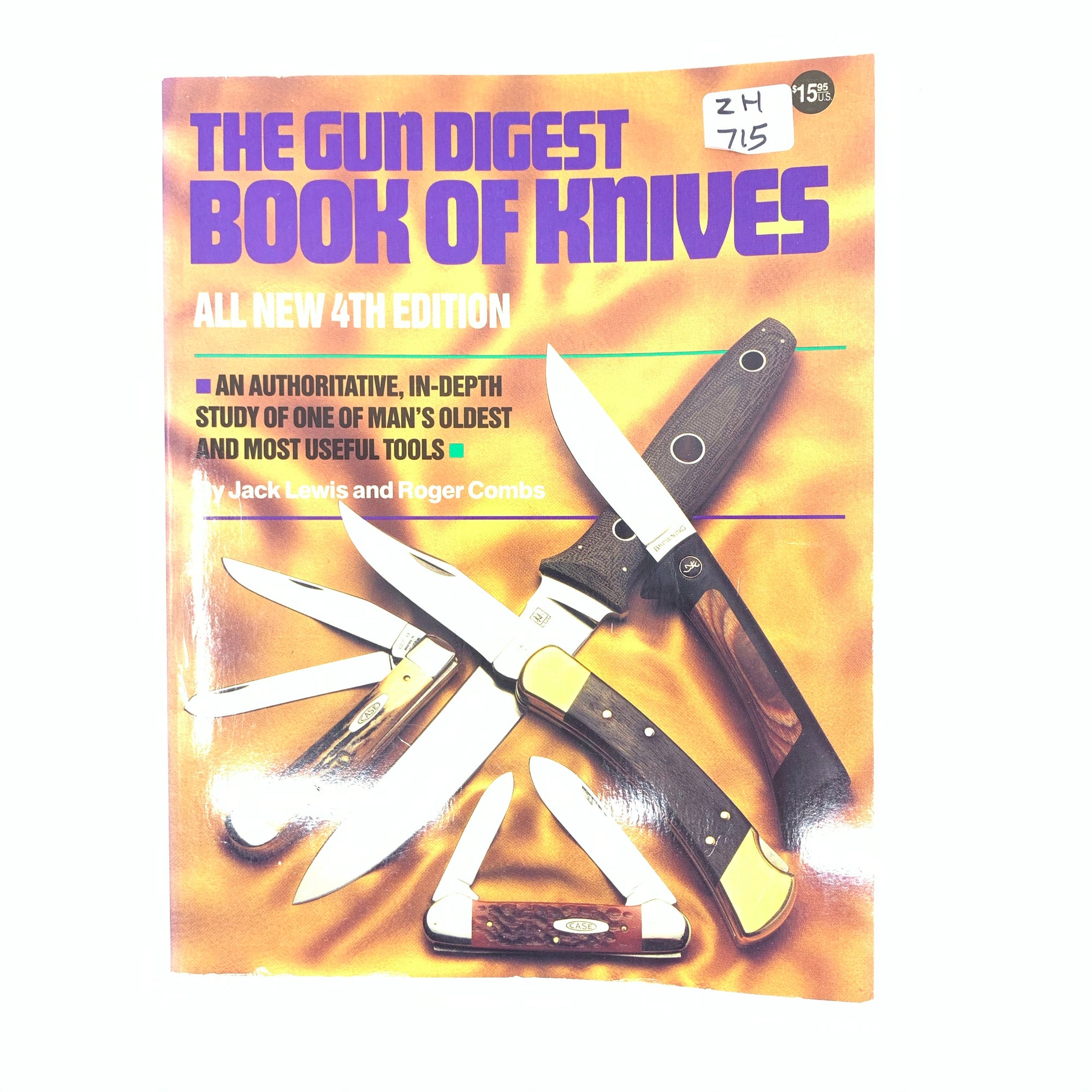 The Gun Digest Book of Knives Lewis & Combs SB 243 pgs