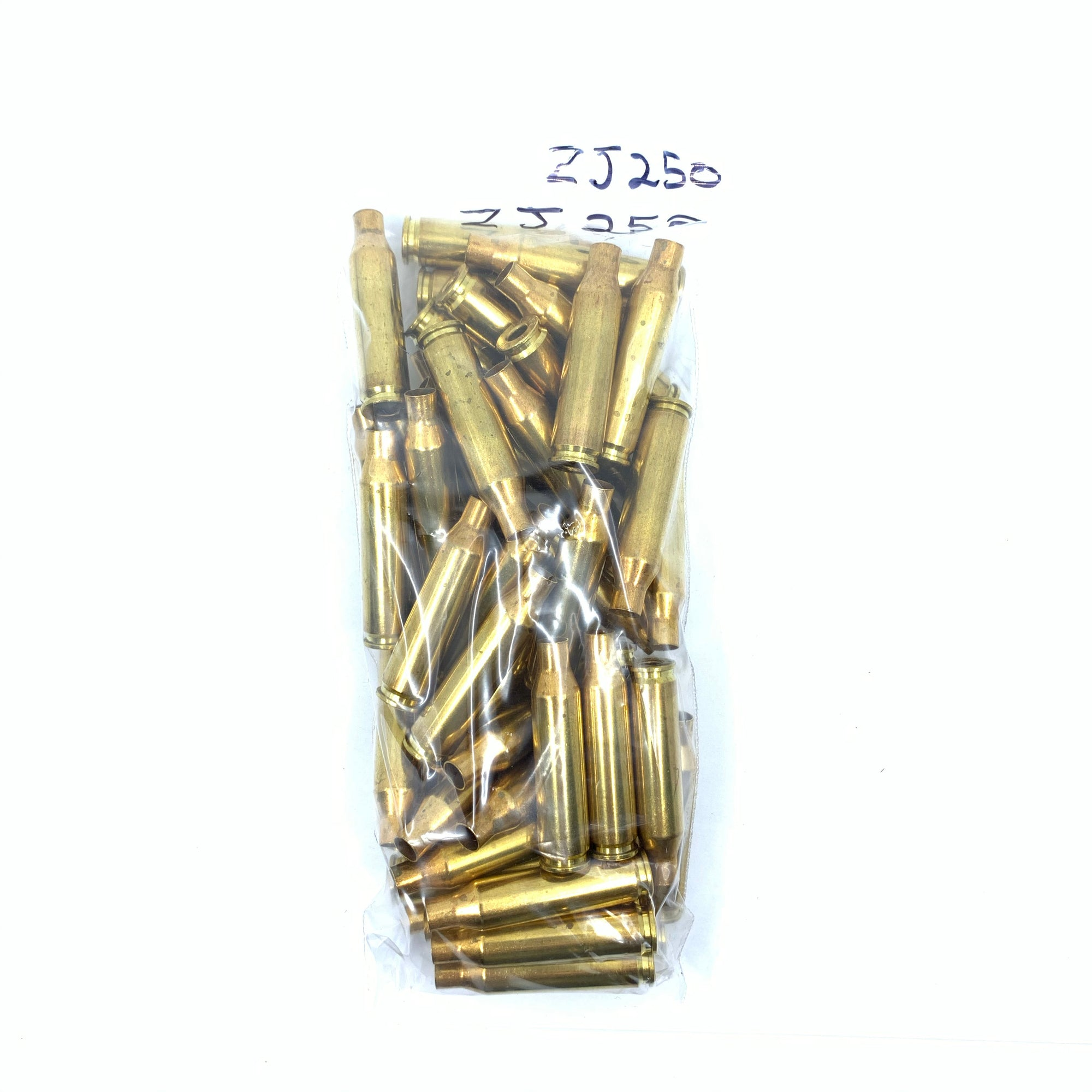 50 Pieces 250Rem New Unprimed Brass