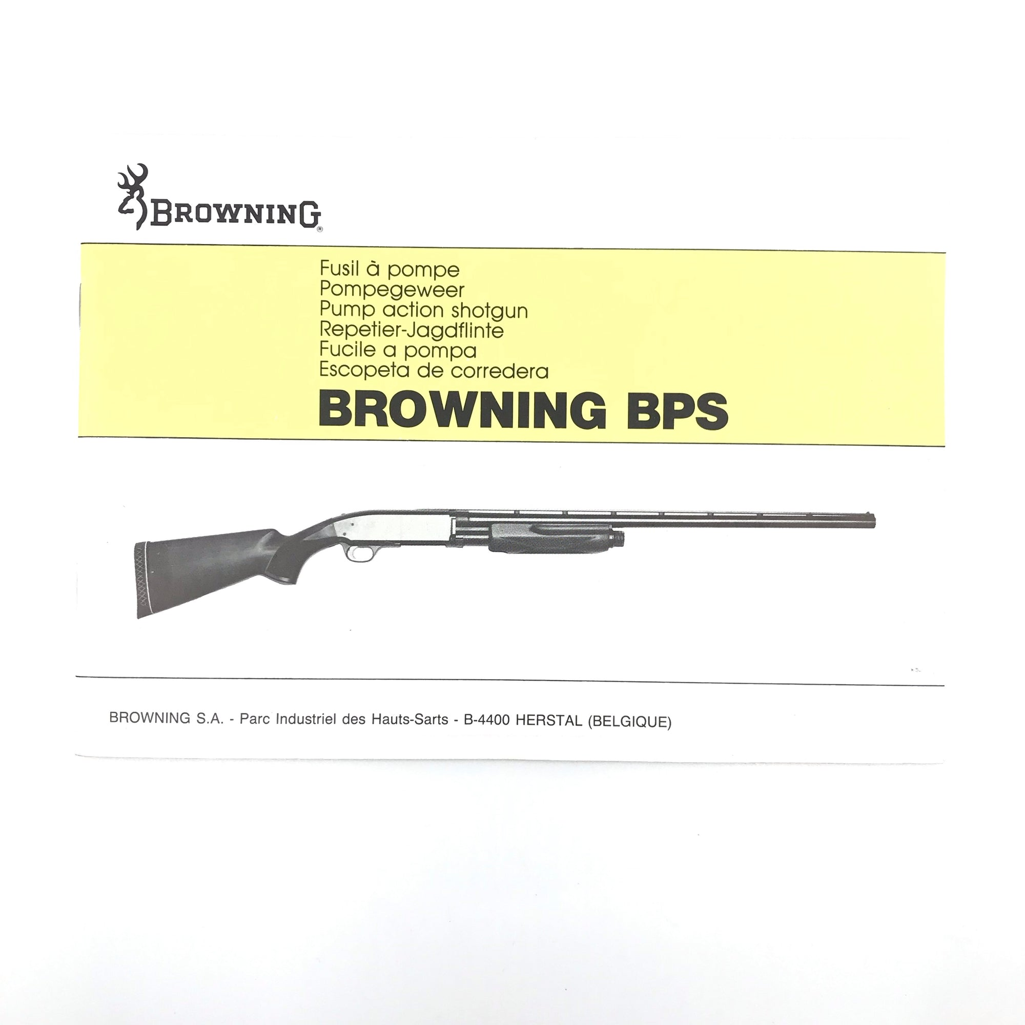 Browning BPS Pump Action Shotgun Pamphlet