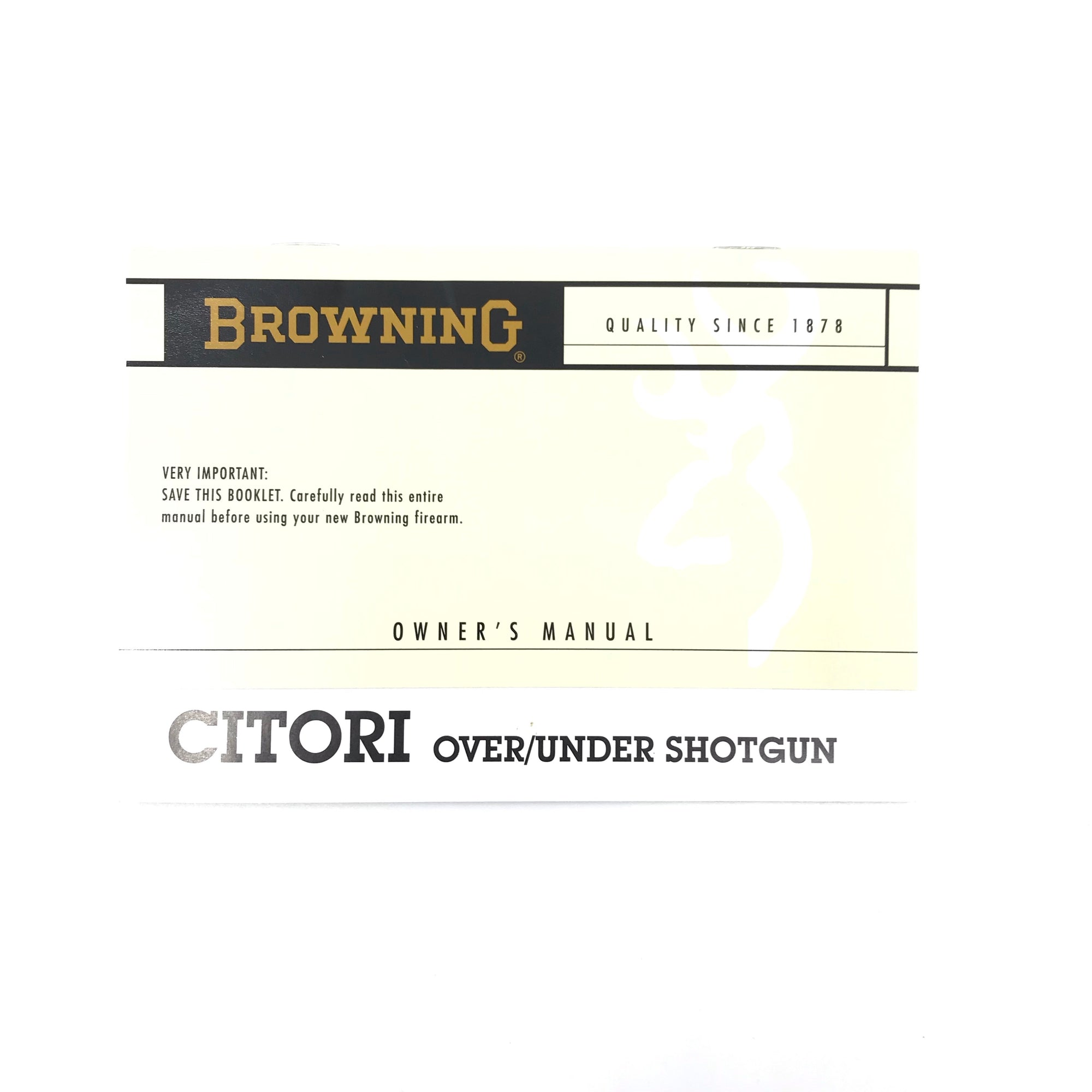 Browning Citori O&U Shotgun Owner's Manual