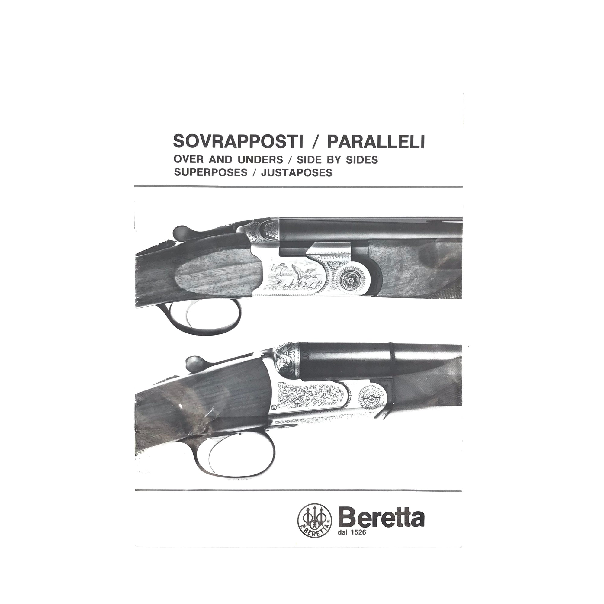 Beretta Sovrapposti/Paralleli Over & Unders / Side by Sides Instruction Manual