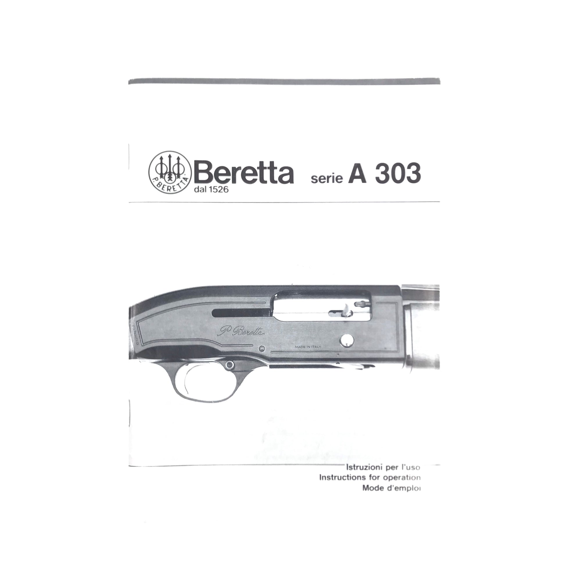 Beretta Series A 303 Instructions & Operation Manual