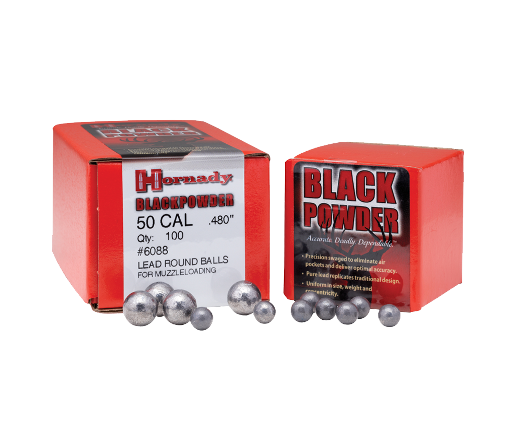 Hornady 45 Cal Lead Round Balls for Muzzleloading,New Rifle Bullets- Canada Brass