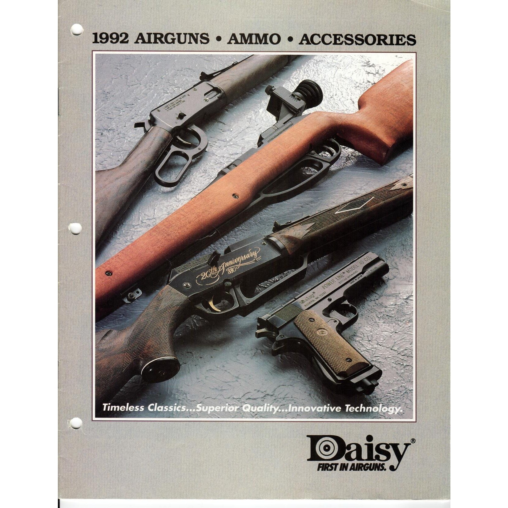 Daisy 1992 Airguns, Ammo & Accessories,Catalogues & Brochures- Canada Brass