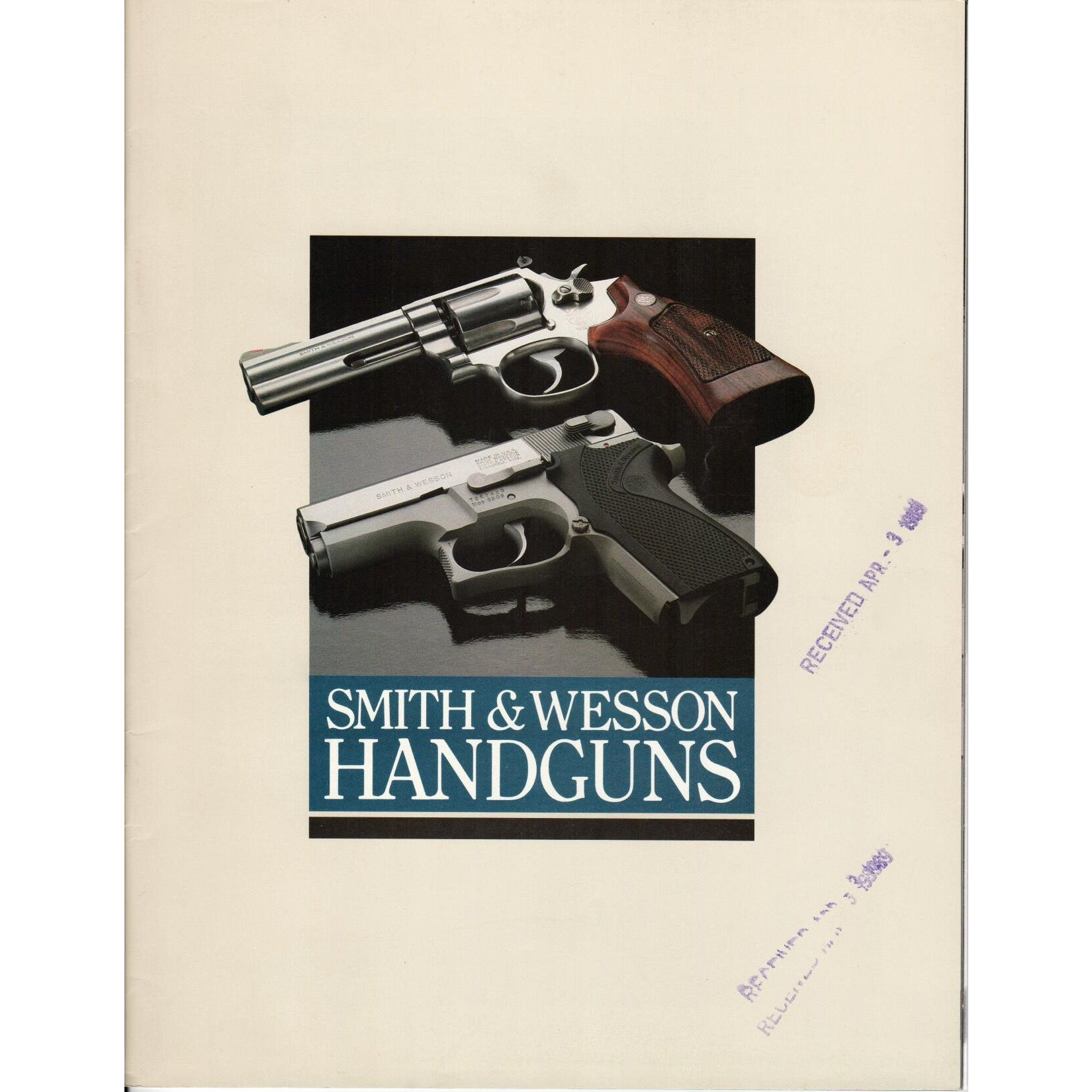 Smith & Wesson Handguns 1989,Catalogues & Brochures- Canada Brass