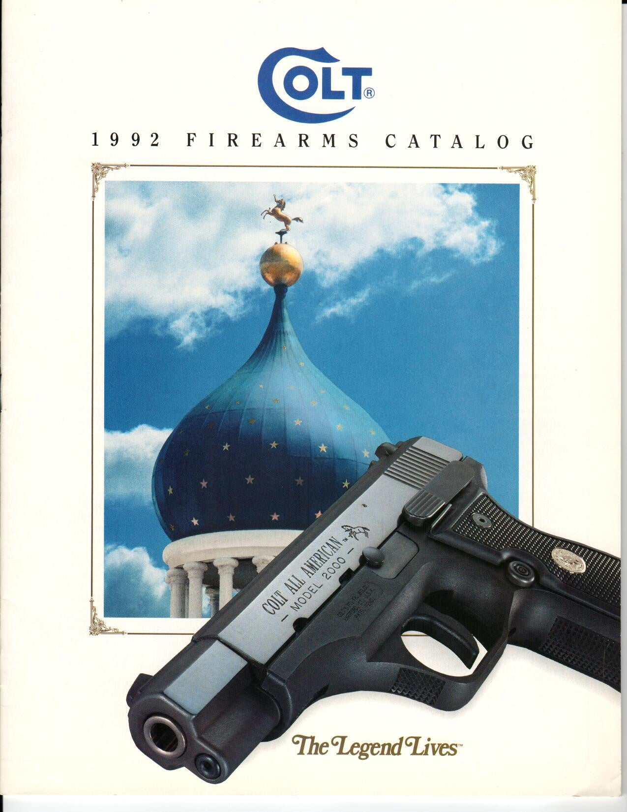 Colt 1992 Firearms Catalogue 'The Legend Lives',Catalogues & Brochures- Canada Brass
