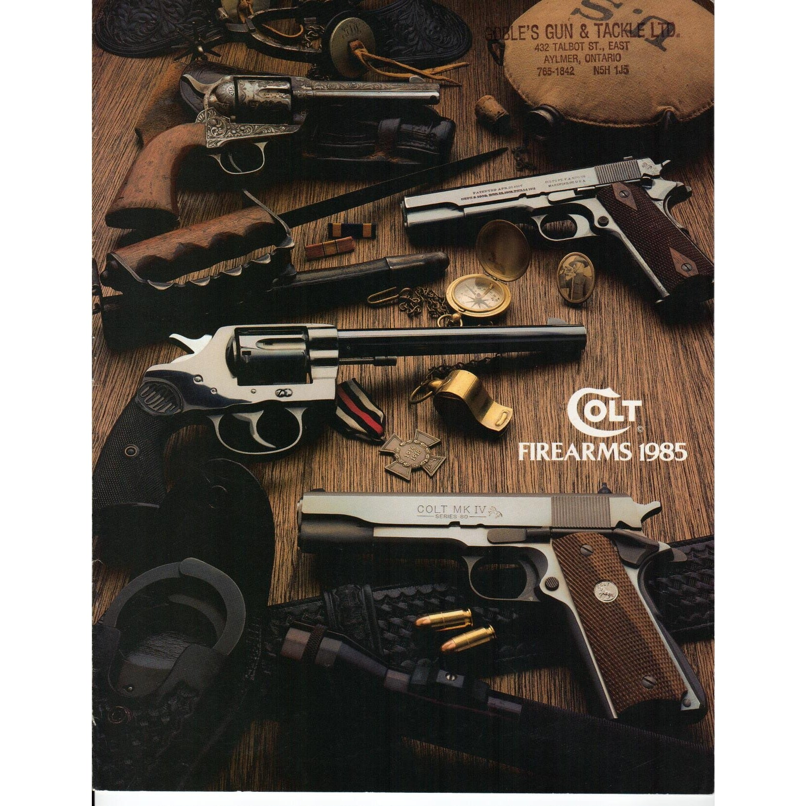 Colt Firearms 1985 Catalogue,Catalogues & Brochures- Canada Brass
