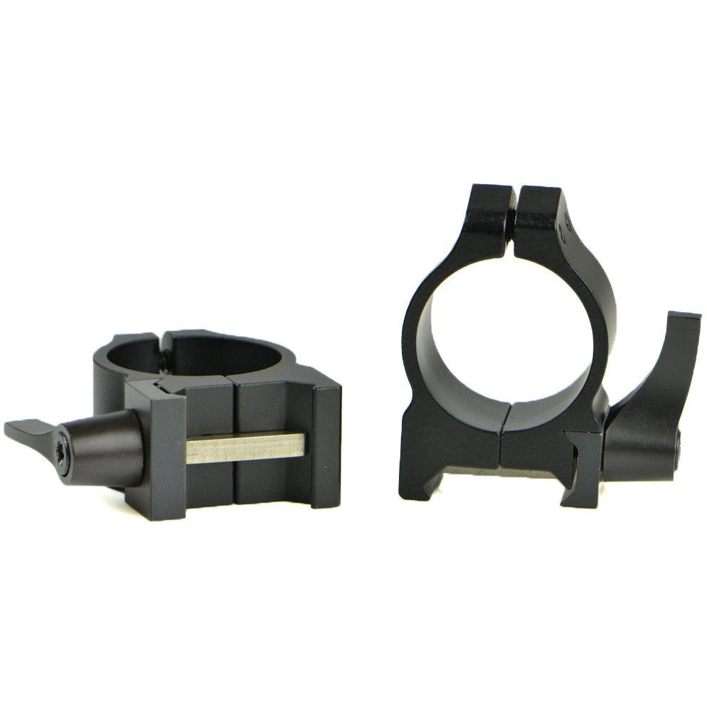 Warne Maxima Quick Detachable Matte Rings for Weaver Style Base,Scope Mount Systems- Canada Brass