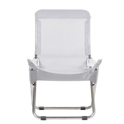 FIAM FIESTA 2 x Adjustable Deck Chairs with Footstools (Aluminium frame)