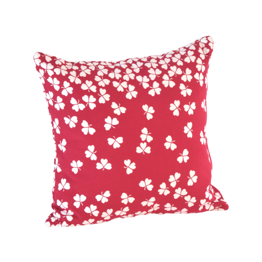FERMOB Trefle Square Cushions - Red Berry - 44x44cm (Set of 2)