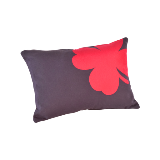 FERMOB Trefle Small Rectangular Cushions - Plum - 44x30cm (Set of 2)