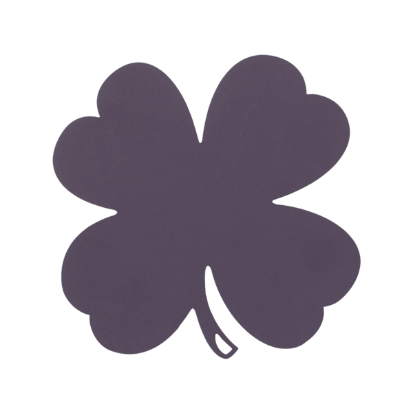 FERMOB Four-Leaf Clover Trivet - Table Decoration - Plum