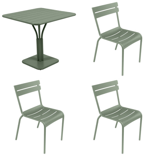 FERMOB Luxembourg Square Table and 4 Chair Set