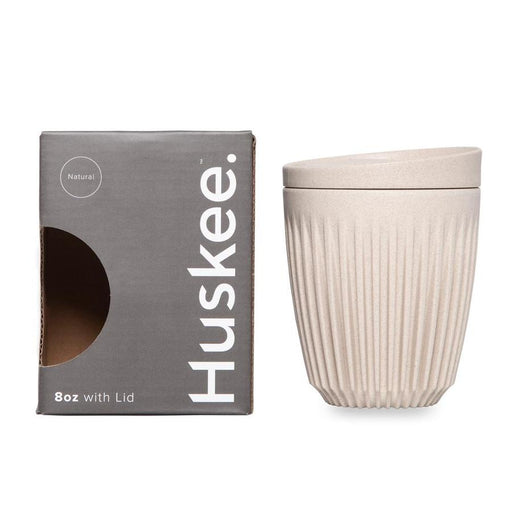 Natural Huskee Cup with Lid 8oz