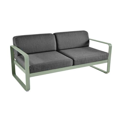FERMOB Bellevie 2-Seater Outdoor Sofa with Graphite Cushions