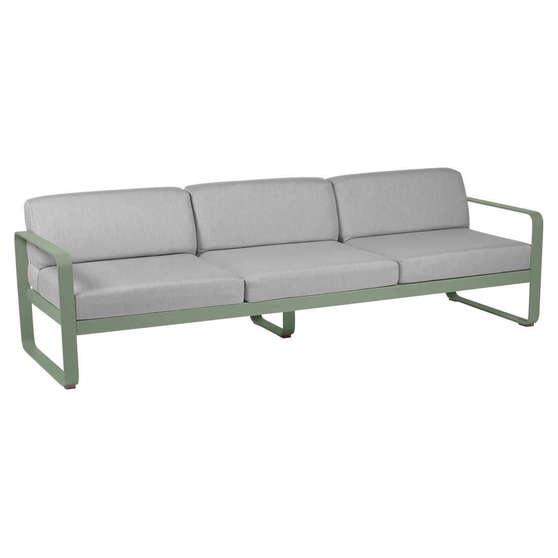 FERMOB Bellevie 3-Seater Outdoor Sofa with Grey Cushions