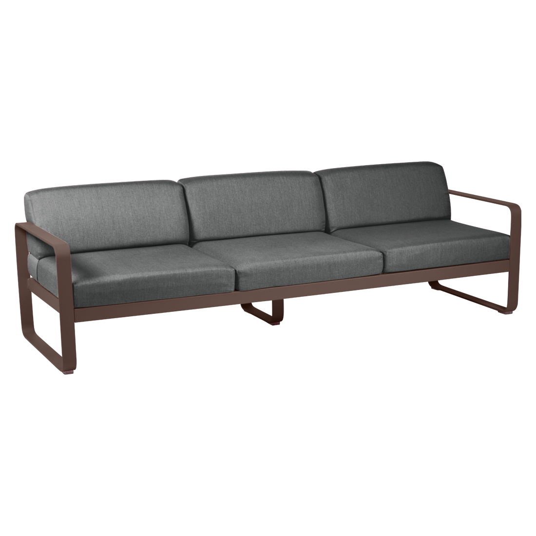 FERMOB Bellevie 3-Seater Outdoor Sofa with Graphite Cushions