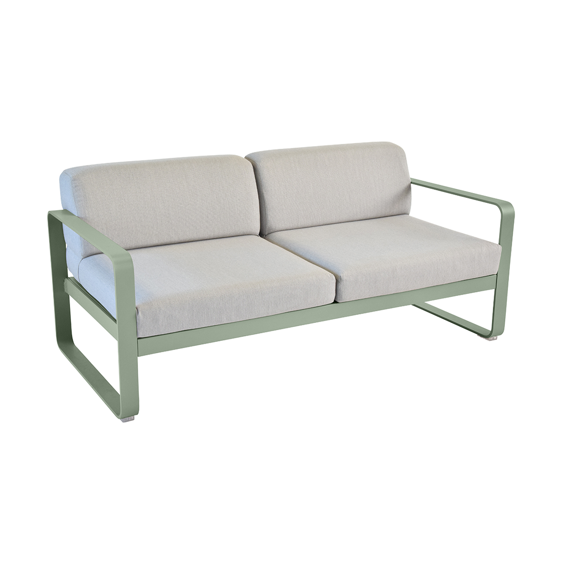 FERMOB Bellevie 2-Seater Outdoor Sofa with Grey Cushions