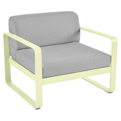 FERMOB Bellevie Armchair with Grey Cushions