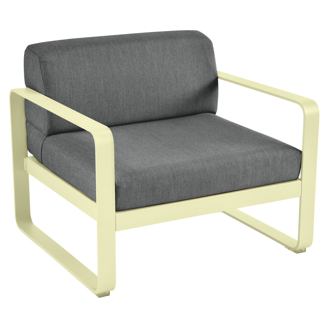 FERMOB Bellevie Armchair with Graphite Cushions