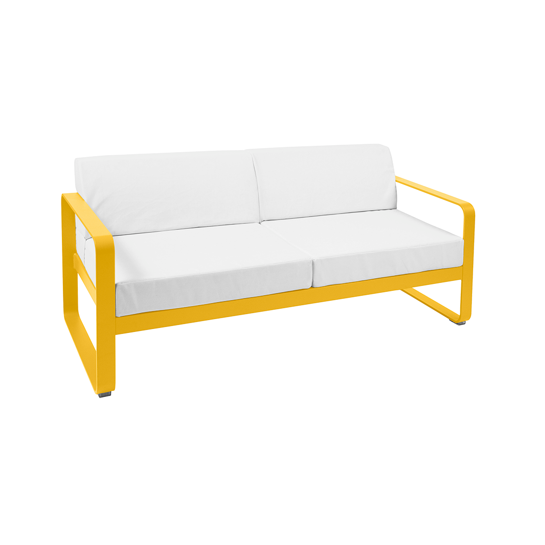 FERMOB Bellevie 2-Seater Outdoor Sofa with Off-White Cushions