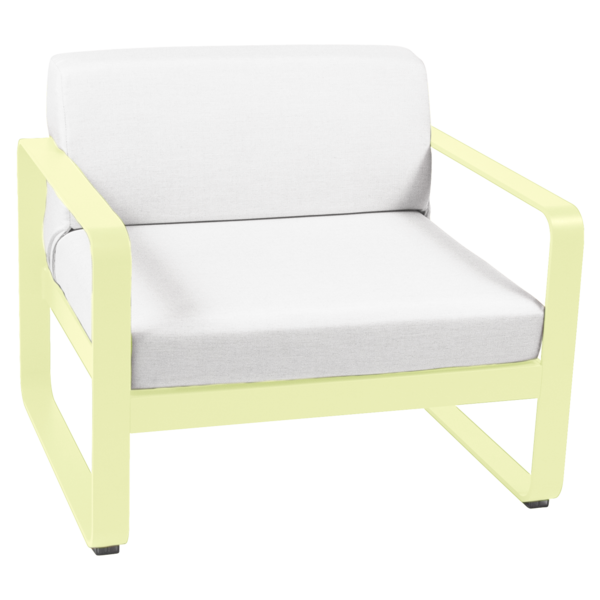 FERMOB Bellevie Armchair with Off-White Cushions