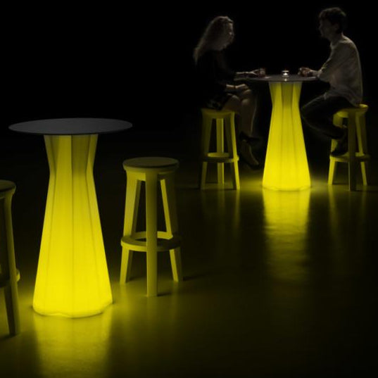 Hire Frozen LED Round Bar Table
