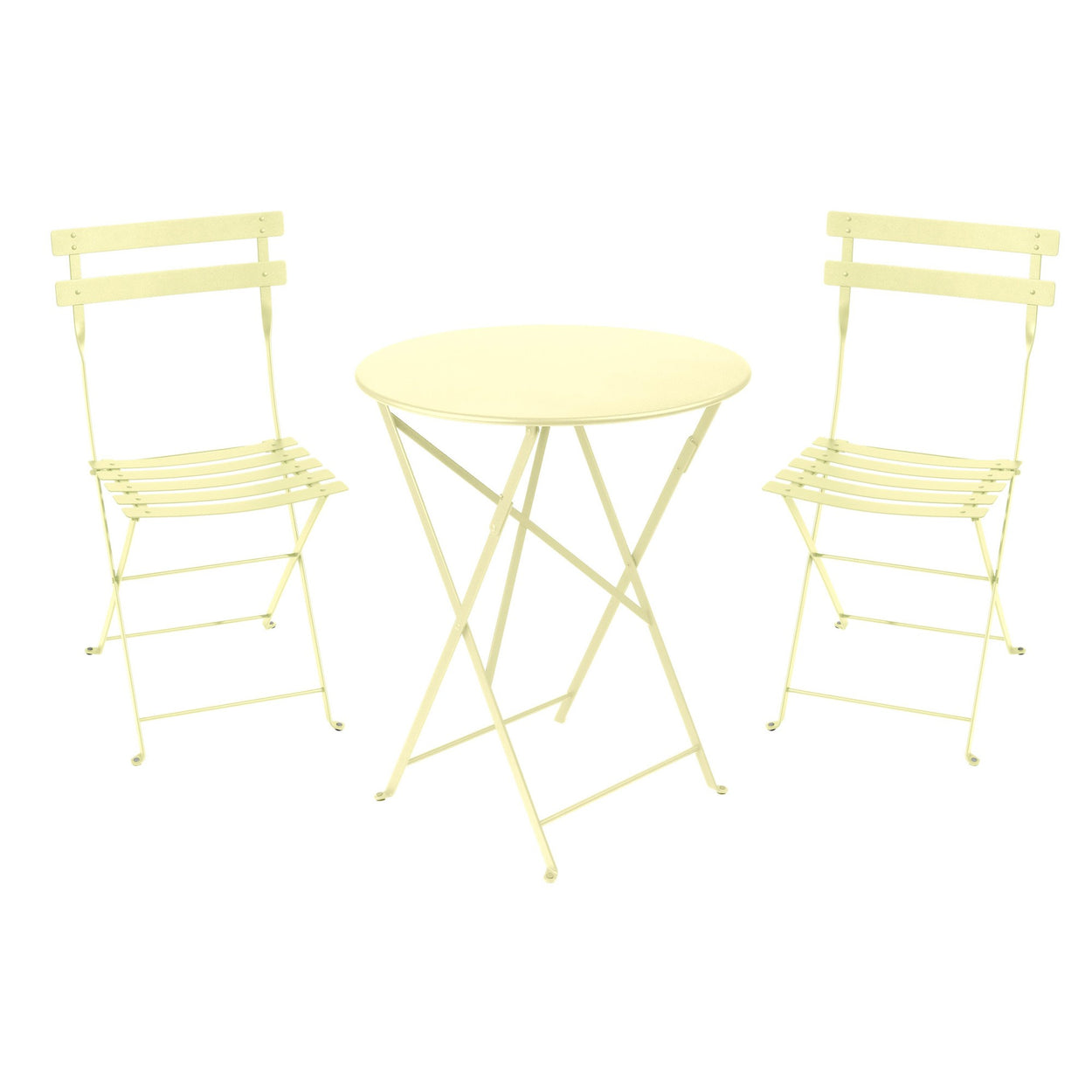 FERMOB Bistro Set - Round 60 cm Table & 2 Chairs