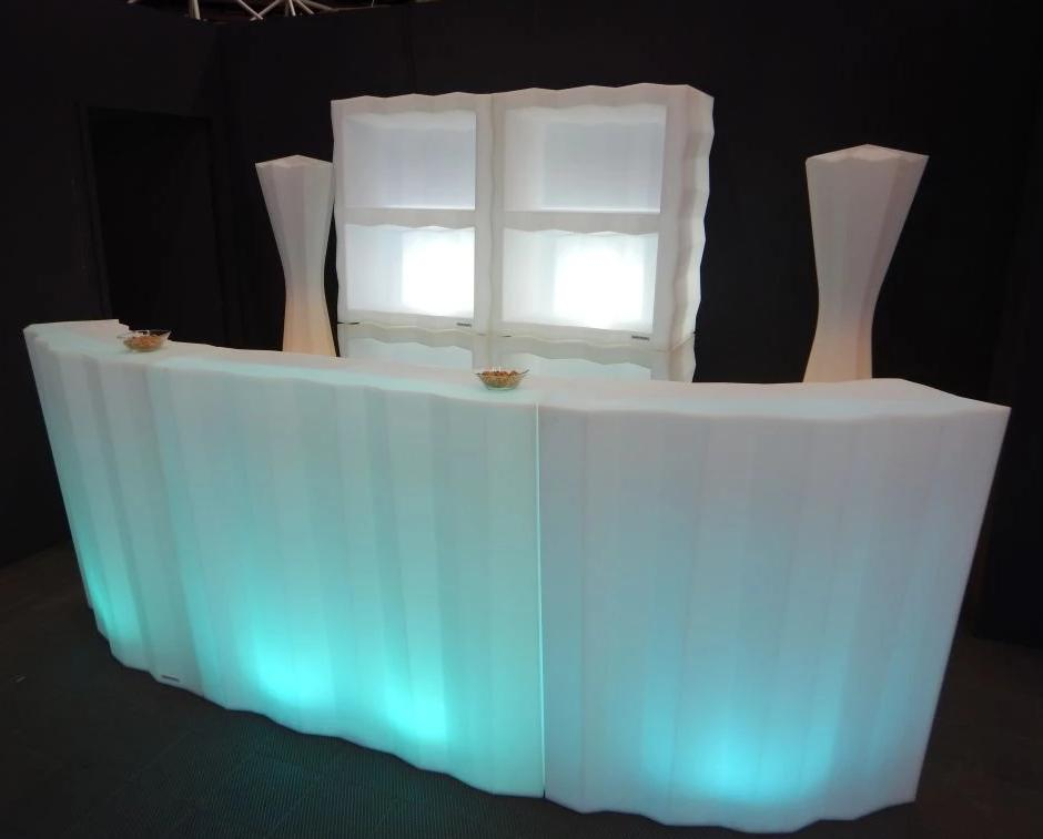 Hire Frozen LED Linear Bar With Rounded Corners Configuration 'D'
