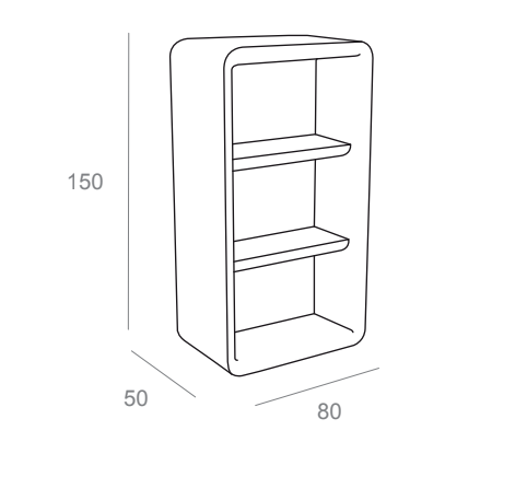 Hire Bartolomeo Display Cabinet