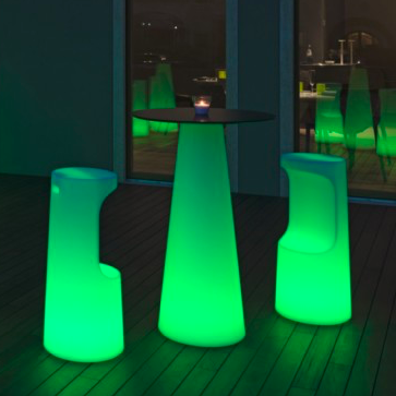 Hire Fura LED Round Bar Table