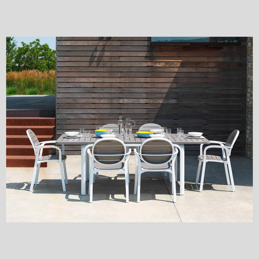 NARDI Alloro 6-8 Seater Outdoor Dining Set with Palma Chairs