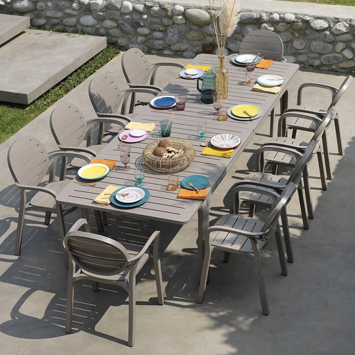 NARDI Alloro 8-10 Seater Outdoor Dining Set with Palma Chairs