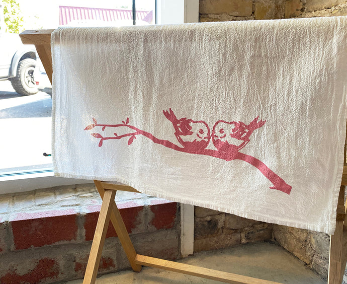 Small Birds Tea Towel - Kimball Prints