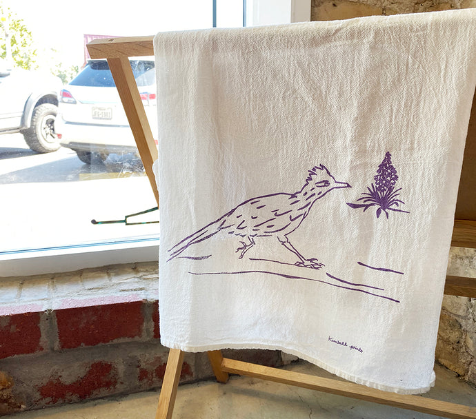 Roadrunner Tea Towel - Kimball Prints