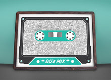 Load image into Gallery viewer, 80's Mix Tape - Print