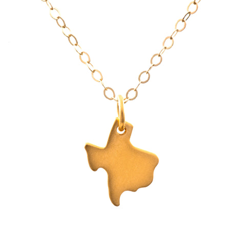 I Heart Texas Necklace - Gold