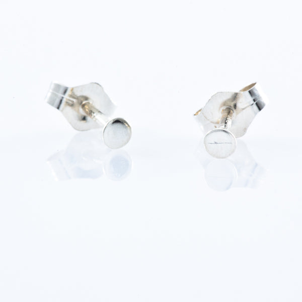 Sterling Silver Stud Earrings - Micro Dot