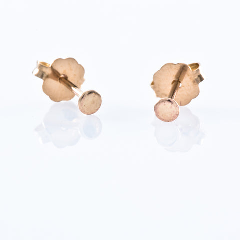 Gold Filled Stud Earrings - Micro Dot