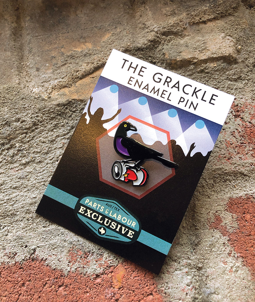 Grackle Enamel Pin - Can