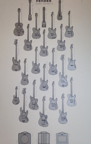 Fender Electric Instrument Co - Silver Edition - Print