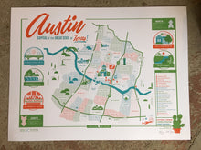 Load image into Gallery viewer, Austin Map - Historic Landmarks