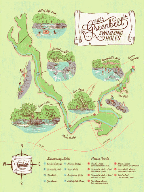 austin map greenbelt swimming holes parts labour