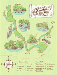 Texas Swimming Holes Map Austin Map   Greenbelt Swimming Holes – Parts & Labour