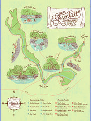 Austin Map - Greenbelt Swimming Holes