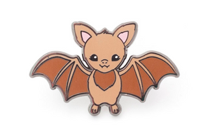 LuxCups - Brown Bat Pin