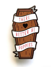 Load image into Gallery viewer, LuxCups - Coffin Puppies/Kitties Enamel Pin