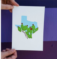 Tiny Texas Prickly Pear - Print